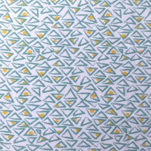 Mascarilla Triangulos verdes