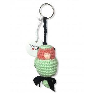 Llavero periquito verde