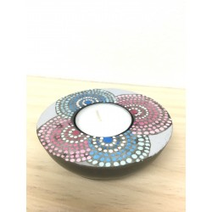 Portavelas confettis rosa-azul
